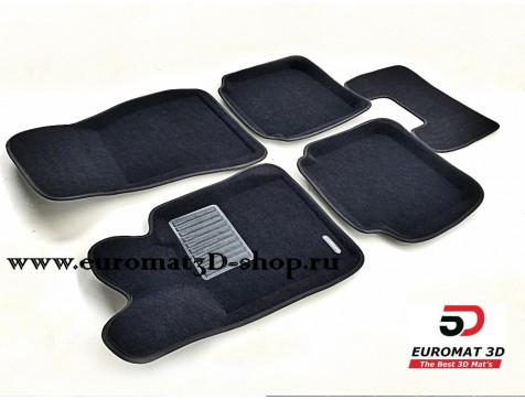 Текстильные 3D коврики Euromat3D Premium в салон для Bmw 7 (G11) (2015-) № EMPR3D-001217