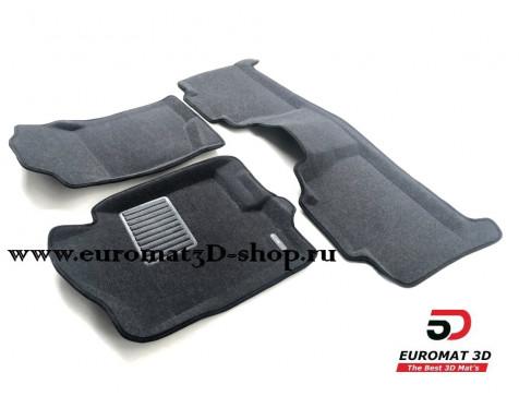 Текстильные 3D коврики Euromat3D Business в салон для Cadillac Escalade (2007-2014) № EMC3D-001302G Серые